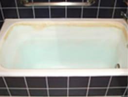 劣化した浴槽